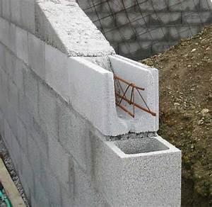 ferraillage bloc a bancher bloc bton bancher pour mur de With maison en beton coule 6 le beton pour la maison parpaing bloc a bancher premur