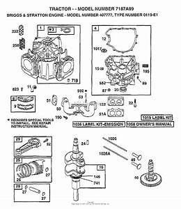 Ayp  Electrolux 7187a89  1998  Parts Diagram For Briggs And Stratton Engine