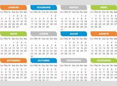 Calendários 2019 Sem Tema 10 Modelos Simples Png Com