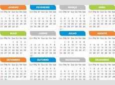 Calendário 2019 Sem Tema Modelos Simples editável R