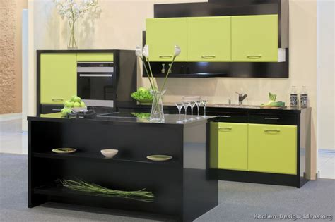 green black and white kitchen pictures of kitchens modern green kitchen cabinets 6932