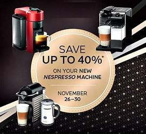 Machine Nespresso Promo : nespresso 39 s black friday sale discounts up to 40 off new ~ Dode.kayakingforconservation.com Idées de Décoration