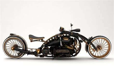 Steampunk Motorcycle :  A Stunning Steampunk Concept Motorcycyle