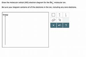 Solved  Draw The Molecular Orbital  Mo  Electron Diagram F