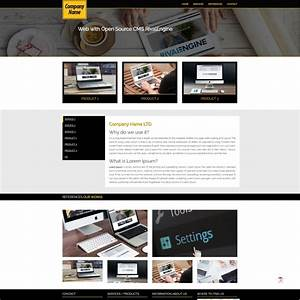 business company web rivalengine With open source template engine