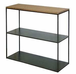 Console Metal Et Bois : console m tal acier brut et bois sur mesure style loft ~ Teatrodelosmanantiales.com Idées de Décoration