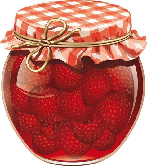un pot de confiture stickers pot de confiture fraise pas cher