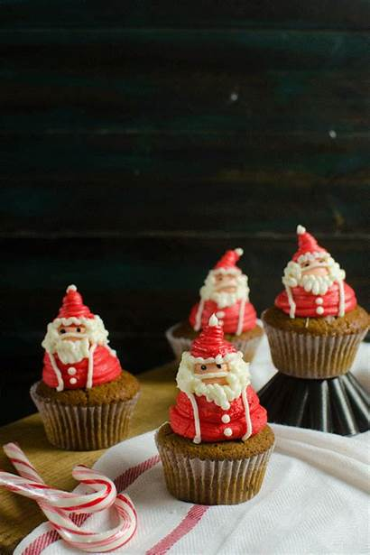 Santa Claus Cupcakes Decoration Frosting Christmas Easy