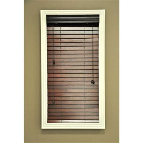 home depot wood blinds hton bay quickship wood blinds mahogany 2 in 64 in