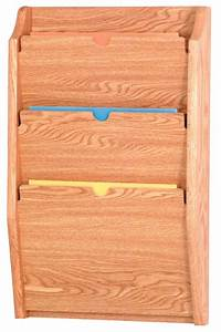Standards Of Review Chart Hipaa Wall File Holder 3 Pocket Rack In Light Oak