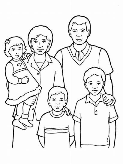 Drawing Pages Lds Coloring Clipart Five Members