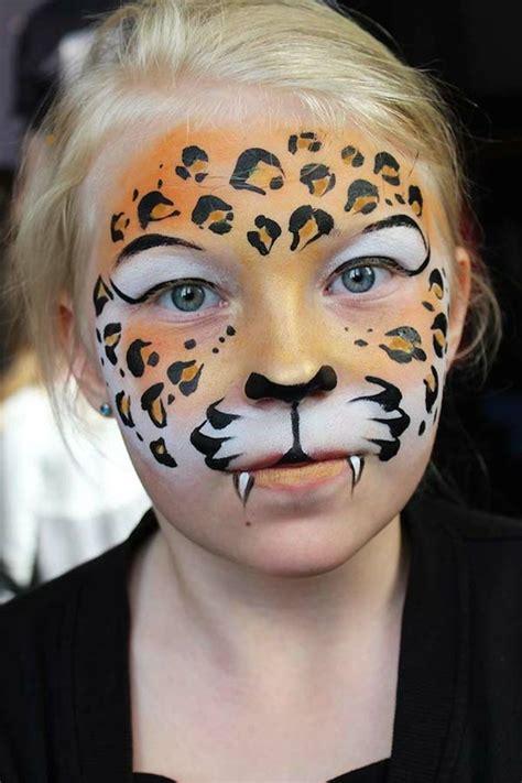 gesichter malen für kinder kinderschminken fasching leopard gesicht makeup leopard