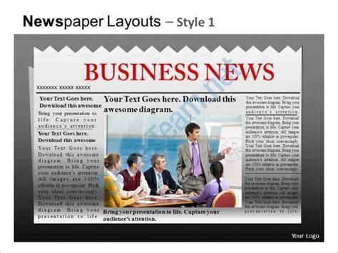 powerpoint newspaper template    pptx potx