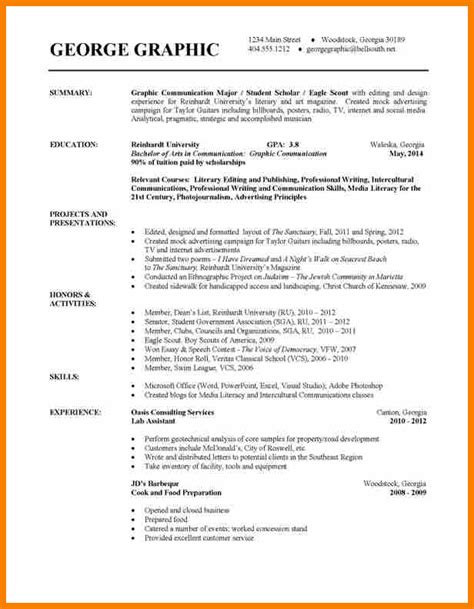 Resume For Teaching Assistant In Universities by 11 College Student Resume Sle Bid Template