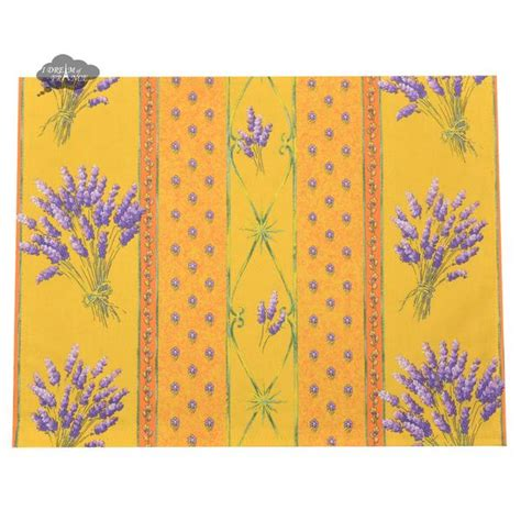 Lavender Yellow Coated Reversible Placemat by Le Cluny I Dream of France