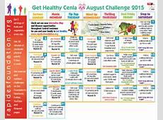 Get Healthy Cenla Challenge Calendar Available