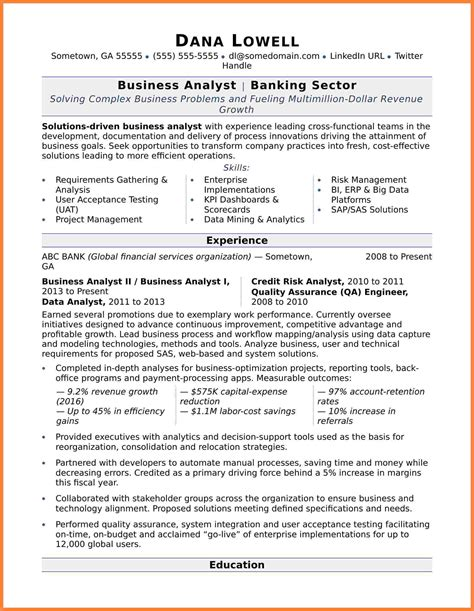 Business Analyst Summary Statement by 5 Business Systems Analyst Resume Statement Synonym