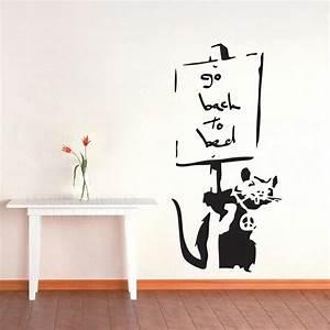 Creative Cool Banksy Wall Stickers Vinyl Mural Wallpaper ...