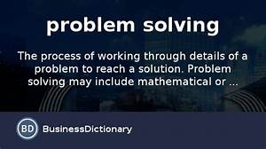 What Is Problem Solving  Definition And Meaning