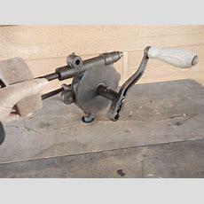 Hand Crank Bench Grinder Antique Vintage Old Tools