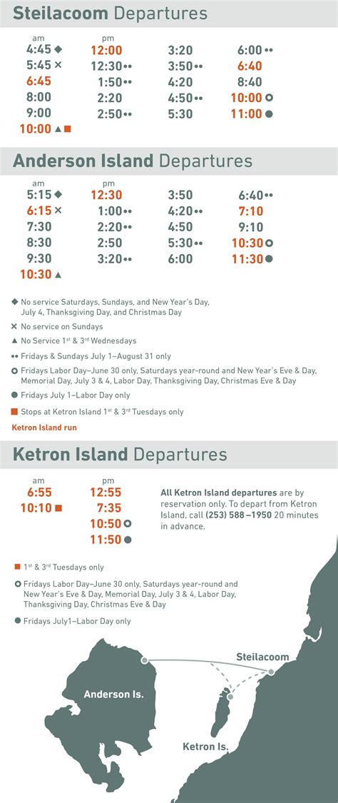 pierce county wa official website ferry schedule