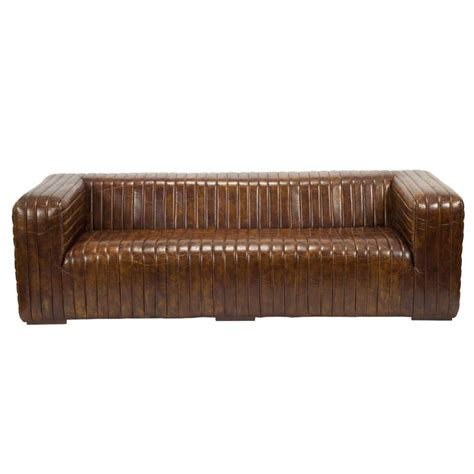wood frame leather sofa castle sofa in brown top grain leather on solid wood frame
