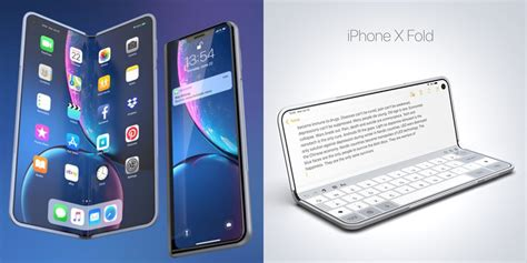 after samsung concept imagine a folding iphone x