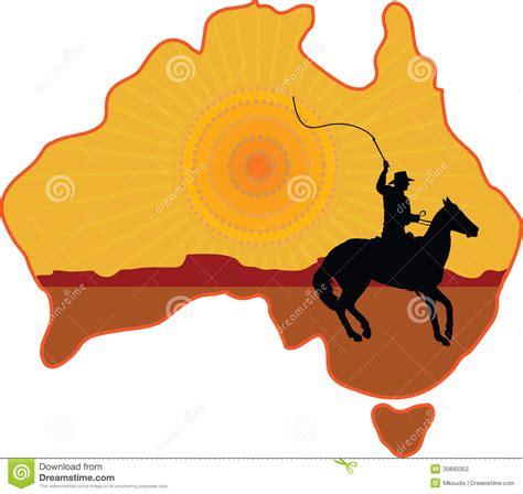 australian horseman stock illustration image