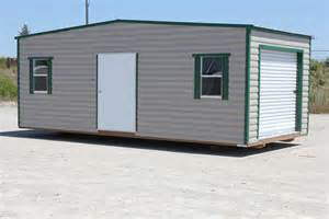 storage shed 10 x 20 with green trim bennett buildings