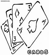 Playing Cards Coloring Colorings sketch template