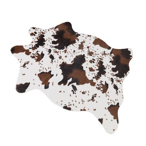 Cowhide Blanket - sleeping partners cowhide print and sherpa