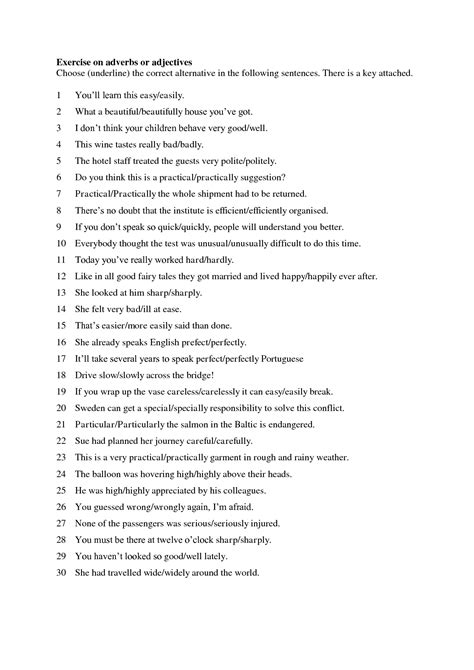 11 best images of adverb clauses worksheets adverbs and adjectives worksheet 7th grade