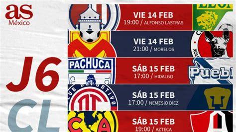 Fechas y horarios de la jornada 6 de la Liga MX - AS México