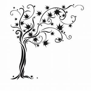 Stickers Arbre Noir : stickers esquisse arbre ~ Teatrodelosmanantiales.com Idées de Décoration