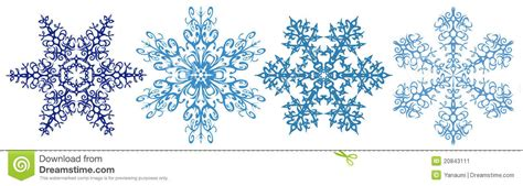 snowflakes clipart strip stock vector image  flower