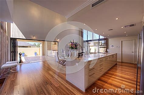 open plan galley kitchen luxurious modern open plan galley kitchen royalty free 3744