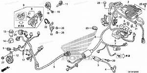 Honda Scooter 2008 Oem Parts Diagram For Wire Harness