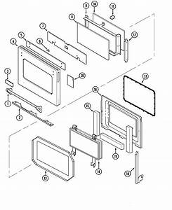 Door Diagram  U0026 Parts List For Model Svd48600p Jenn
