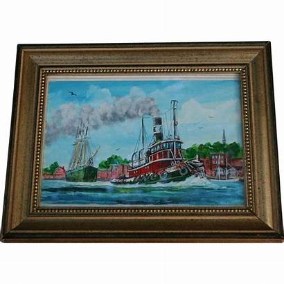 Maine Bill Artist Paxton Watercolor Painting Listed