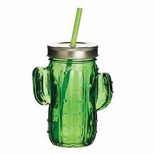Mason Jar Paille : verre cactus paille mason jar kitchen craft kookit ~ Teatrodelosmanantiales.com Idées de Décoration