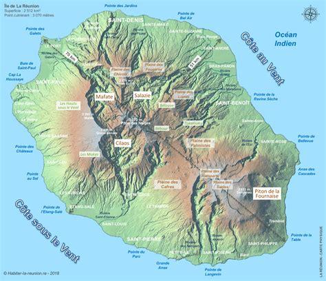 La Réunion Carte Géographique Monde by Carte La Reunion