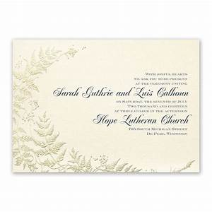 ferns of gold invitation invitations by dawn With wedding invitations with gold wording
