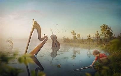 Lake Wallpapers Fantasy 4k Musical Dream Ultra