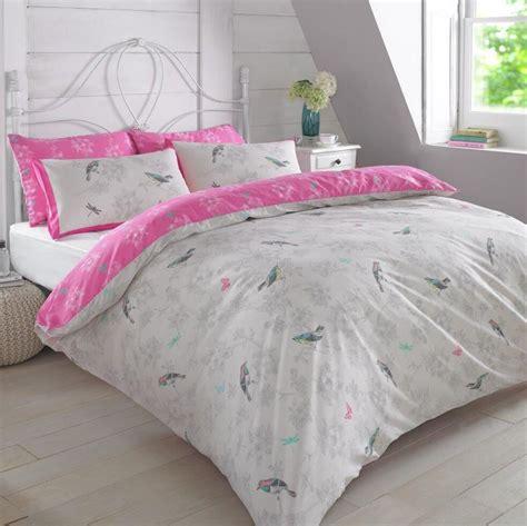 pink and grey bedding sets vintage birds pink king size duvet cover set reversible