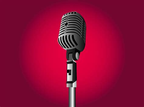 Retro Mic Vector Art & Graphics