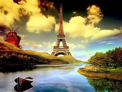 Tower Eiffel Paris France Manipulation Wallpapers