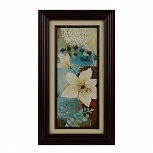 Blue & Cream Fleurs I Framed Art Print Kirklands