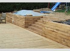 Nigel and Julie Sussex's decking project with railway