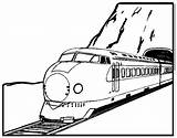 Coloring Train Tunnel Cliparts Thingkid Passed Favorites Clipart sketch template