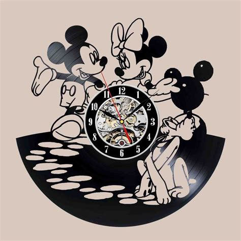 Vinyl Platten Wand by Mickey And Minnie Design Vinyl Record Wall Clock Uhren